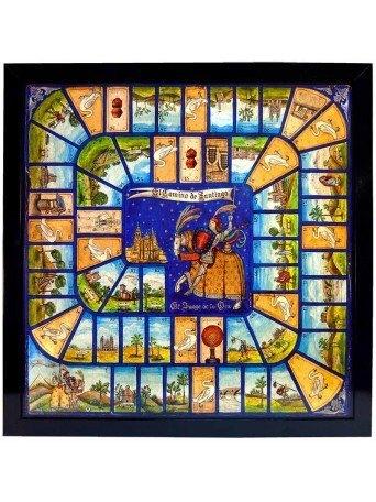 Reproducción del juego de la oca del Camino de Santiago