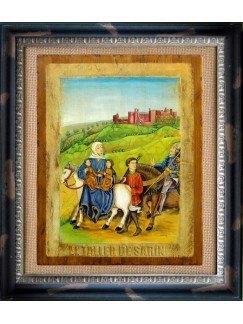 El Castillo Templario de Ponferrada con personajes del Libro del Caballero Zifar