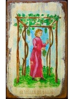 Mujer comiendo uvas
