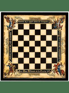 Tablero de ajedrez medieval de 49x49cm