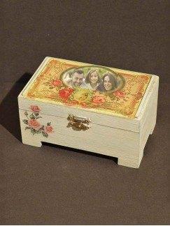 Caja marco de rosas