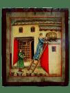 Mujer escancia vino. Theatrum Sanitatis
