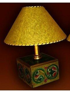 Lámpara madera 16 x 16 x 39cm