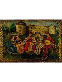 Castillo Villafranca y músicos 20x14cm