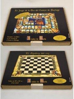 Pack juegos medievales: Juego de la Oca y Ajedrez